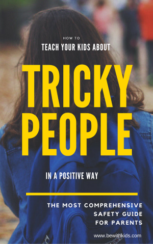 How to teach your child about tricky people and help requests from strangers in a positive way - post cover - a girl with a backpack