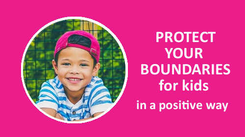Course card protect your boundaries be with kids