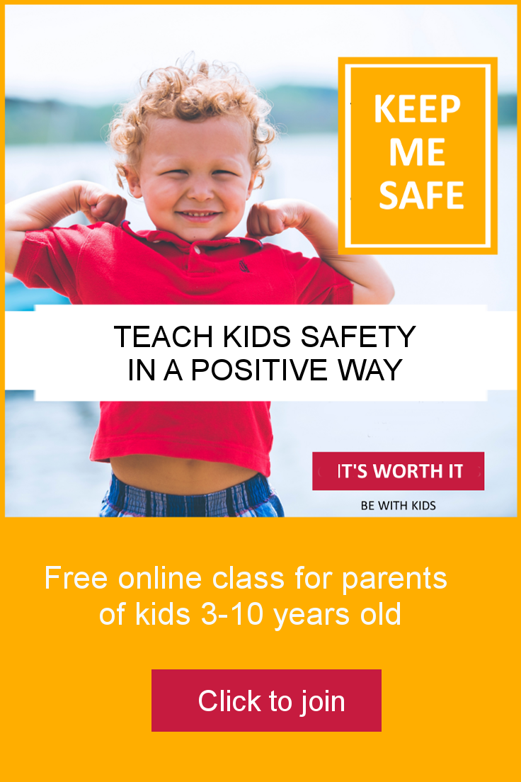 How to teach kids safety in a positive way - free online live challenge for parents of kids 3-10 years old