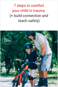 How to comfort your child in trauma, build connection and teach safety - a dad showing a boy how to ride a bike