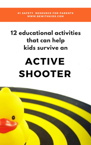 Active shooter training - 12 activities for school kids that can help survive - post cover - rubber duck on the dart pad